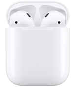 Apple AirPods med ladeetui, hvit
