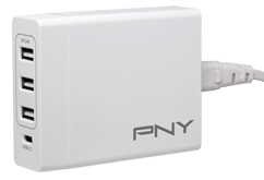 PNY family charger, hvit