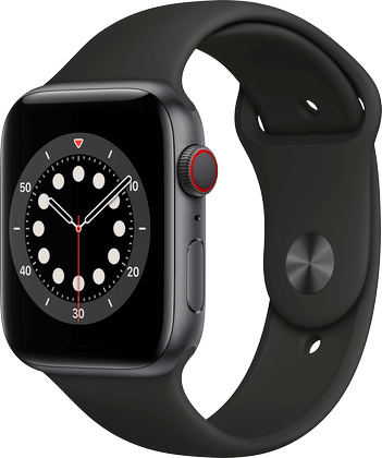 Apple Watch 6 aluminium stellargrå 44mm