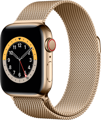 Apple Watch 6 rustfritt stål gull Milanese 40mm